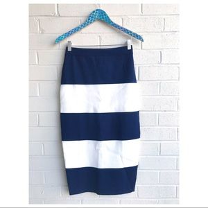NWT Kendall + Kylie Stripe Knit Midi Pencil Skirt
